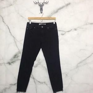 Ashley Mason raw hem black skinny jeans Size 9